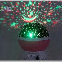 LED Rotating Night Light Projector Spin Starry Sky Star Moon Master Children Kids Baby Sleep Romantic