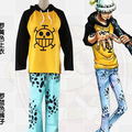 Stock Hot Sale Summer Style cosplay costume One Piece cosplay trafalgar law cosplay Law Cosplay Costume T-shirt pants