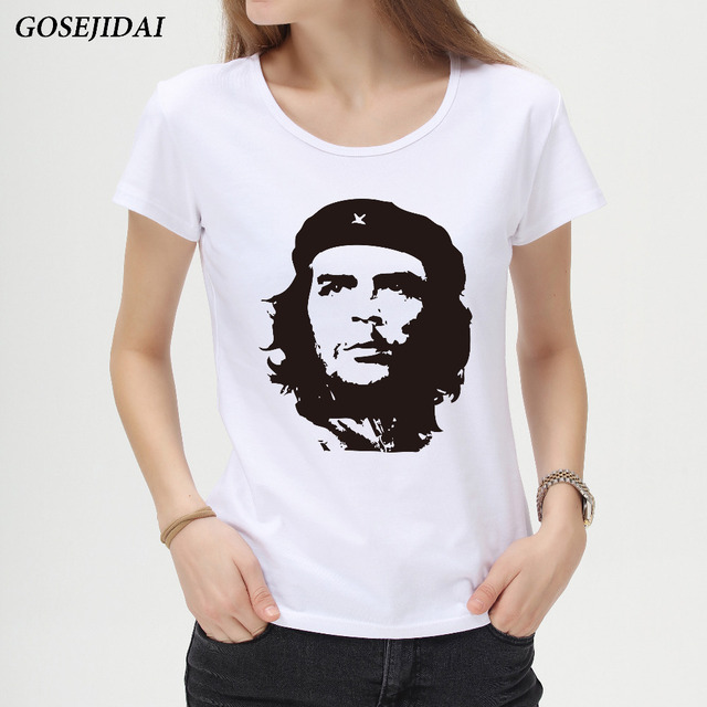New Brand Retro Che Guevara Design Women's T shirt Fashion Creative Lady's  Customized White T-Shirt Girl Slim Cool Tops/Tees C11