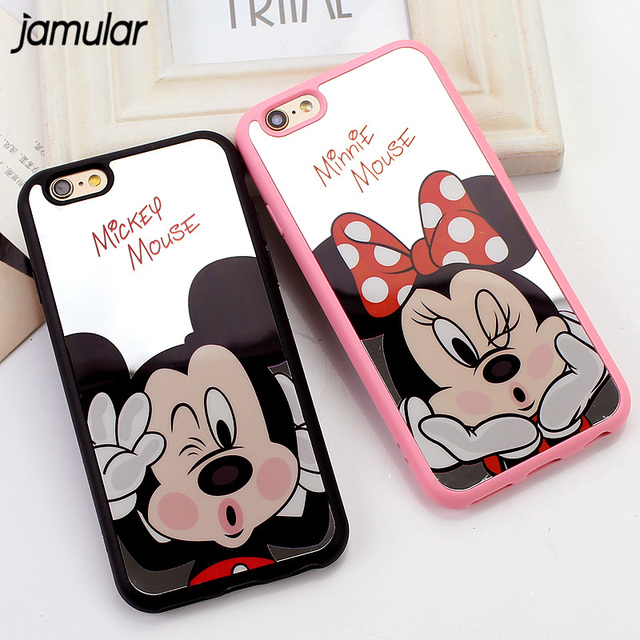 6 6s newest fashion mickey minnie mouse mirror case for for Coque iphone 4 miroir