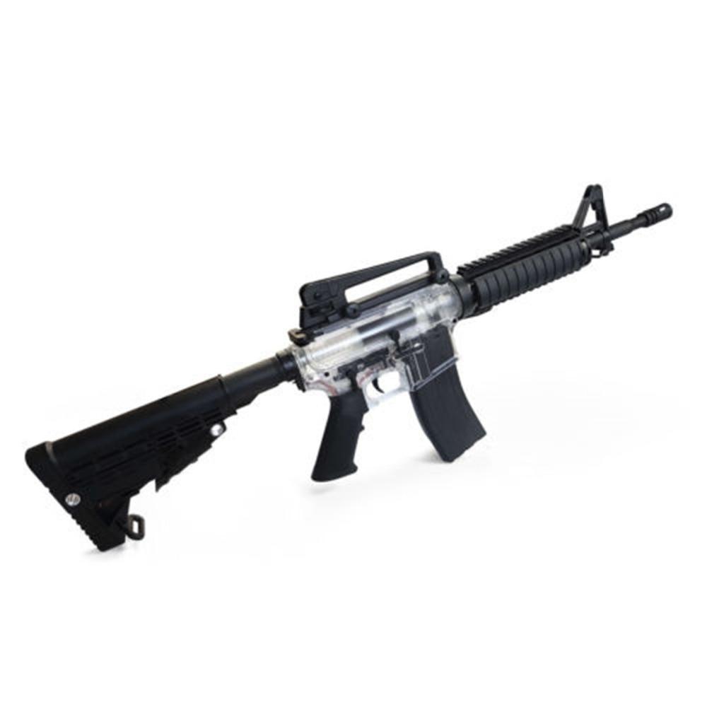 Nouveau Bien M4-001 Transparent Gel Blaster Jouet Pistolet Mag Nourris Automatique gel balle 7-8mm