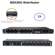 2XLot Factory Sales 8 Way DMX512 Signal Amplifier Stage Light DMX512 Amplifier DMX Signal Distributor Stage Lighting Equipments