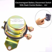 Truck Battery Switch Electromagnetic Disconnector DC 24V Power Switch + One Button Control on Dash Master Kill System