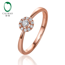 Caimao Jewelry 14K Yellow Gold 0.23ctw Diamond Engagement Wedding Band Free Shipping caimao jewelry natural red ruby with pearl and diamond engagement 14ct yellow gold pendant
