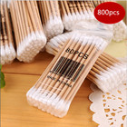 10X80PCS Q-tips Cotton Swabs Double Tip wooden Stick Cotton Swabs/Cotton Buds/Ear buds Qtips