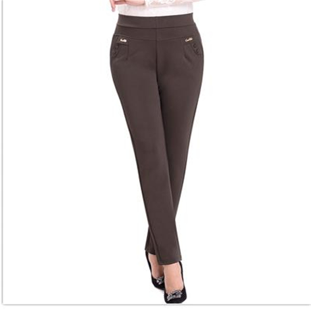 Lady Winter Thick Oversized Pantalones Woman Autumn Plus Size Pants Women Straight Trousers Female High Stretch Capris Pantalon