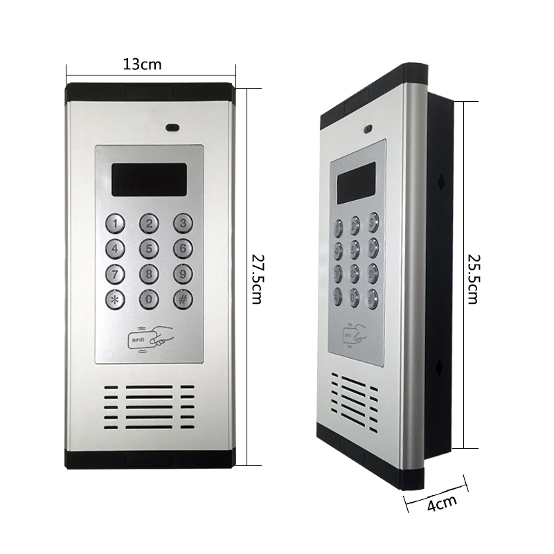 3G GSM Apartment Intercom Access Control System Support to Open Door by Phone Call RFID SMS Command Remote Control Gate Opener_F8