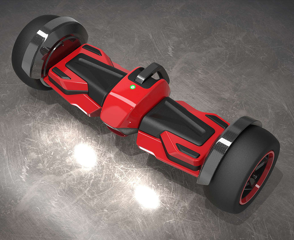 Fat tire off-road foot control app LED color changing self balancing scooter hoverboard