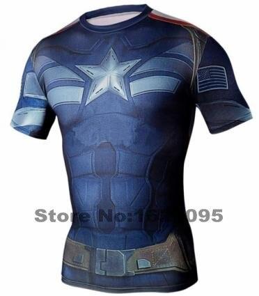 2016 TOP ! Fashion Superman compression t-shirts men superman tops tees men quick dry fitness short sleeve shirt
