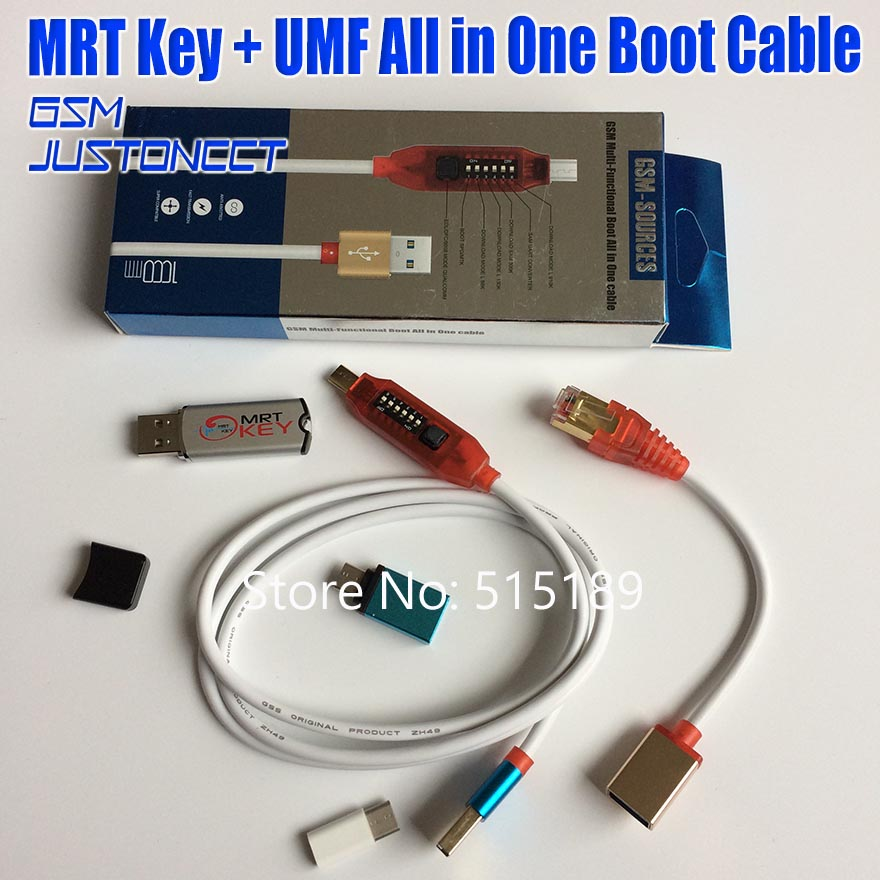 Original MRT Dongle Mrt Key + UMF Cable ( Ultimate Multi-Functional Cable ) All In One Boot Cable