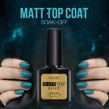 Azure Hot Matte Top Coat UV Nail Gel Polish Matte Effect Gel Polish Soak Off Gel Lacquer Matt Matte Nail Gel