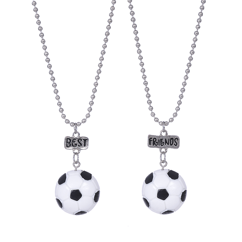 10set/lot 2pcs/sets NEW Style BFF nacklace Resin Soccer Basketball Baseball Volleyball Golf best friend Pendant Set necklace