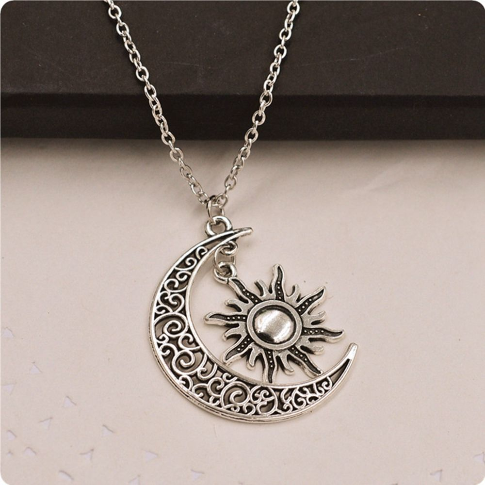 1PC Fashion Women Vintage Creative Silver Crescent Moon ...