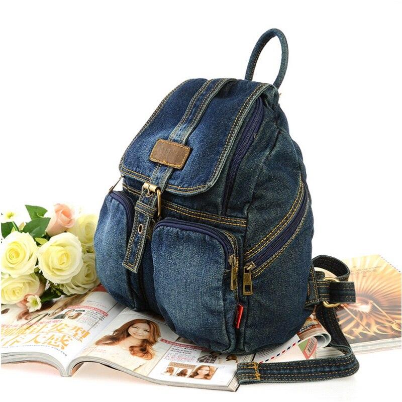 bb03b8dd80a0 Ipinee темно синий женский рюкзак школы Повседневная джинсовая Стильная  Женская дорожная сумка для подростков оптовая продажа купить на AliExpress