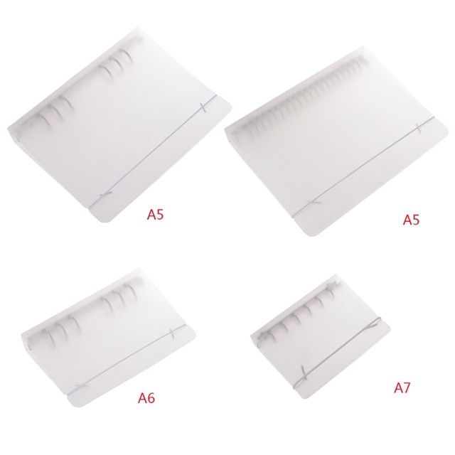 a7 a6 a5 6 12 holes clear plastic round ring binder binding cover
