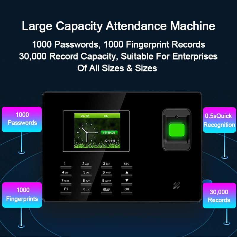 Eseye Biometric Time Attendance System USB Fingerprint Reader Attendance Access Control Time Clock Employee Device With TCP/IP built in 2000mah battery biometric time attendance with fingerprint reader terminal with tcp ip rj45 port employee attendance