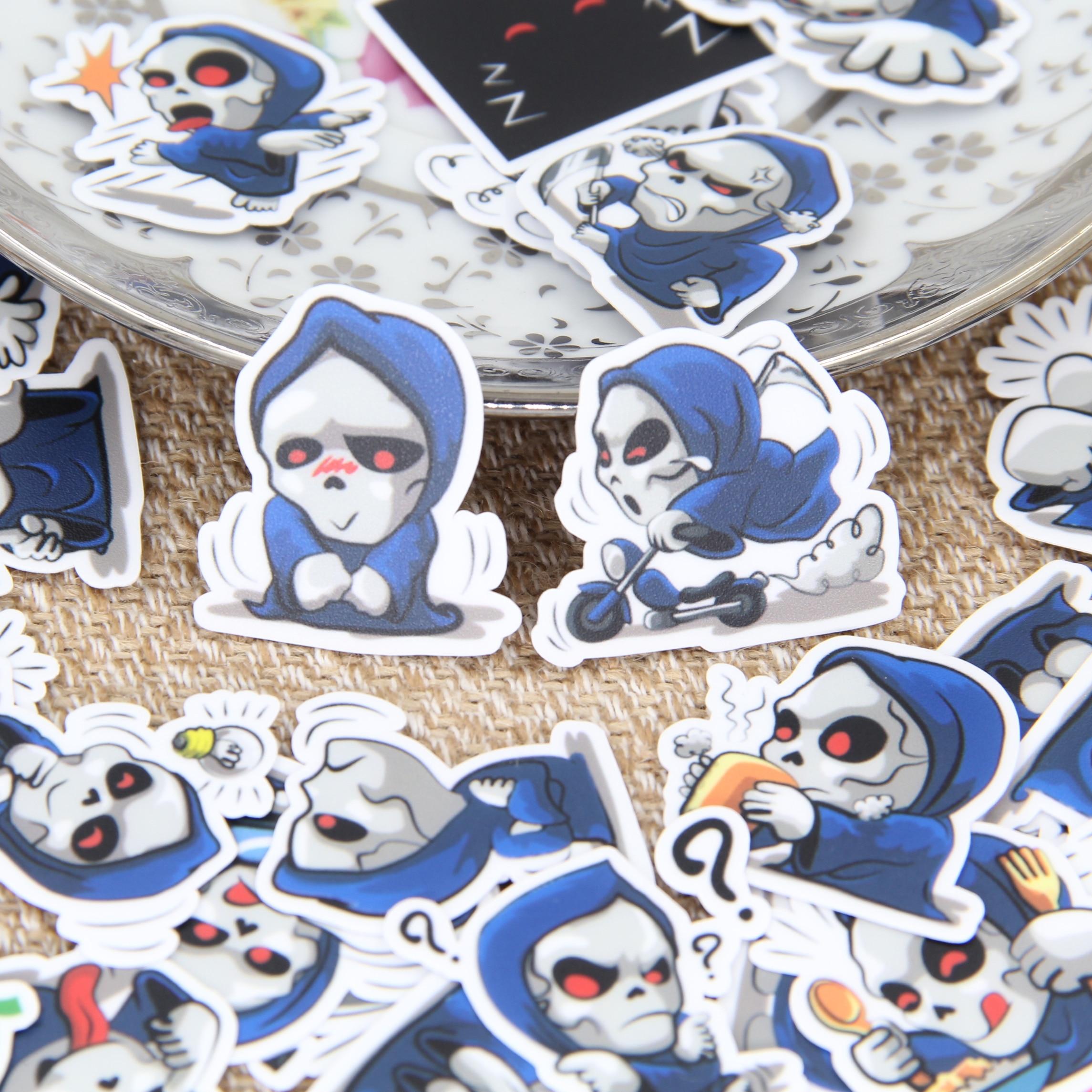 40pcs Self-made Funny Skull Skeletal Men  Scrapbooking Stickers DIY Craft Decrative Sticker Pack Book Deco Diary Deco
