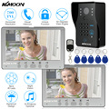 KKmoon 7'' TFT LCD Color Wired Video Door Phone Kit Visual Intercom Doorbell 2* Monitor 700TVL IR Outdoor Camera Remote Unlock
