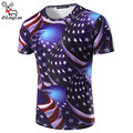 ZiLingLan Stars American Flag balloon 3D T Shirts High Quality Tops Tees Men Short Sleeve T-Shirts Novelty T Shirts Clothes