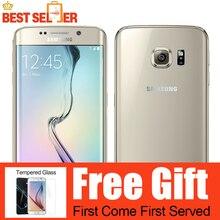 "Original samsung galaxy s6 edge g925f octa core 3 gb ram 32 gb rom 16mp 5.1 ""nfc lte teléfonos móviles"
