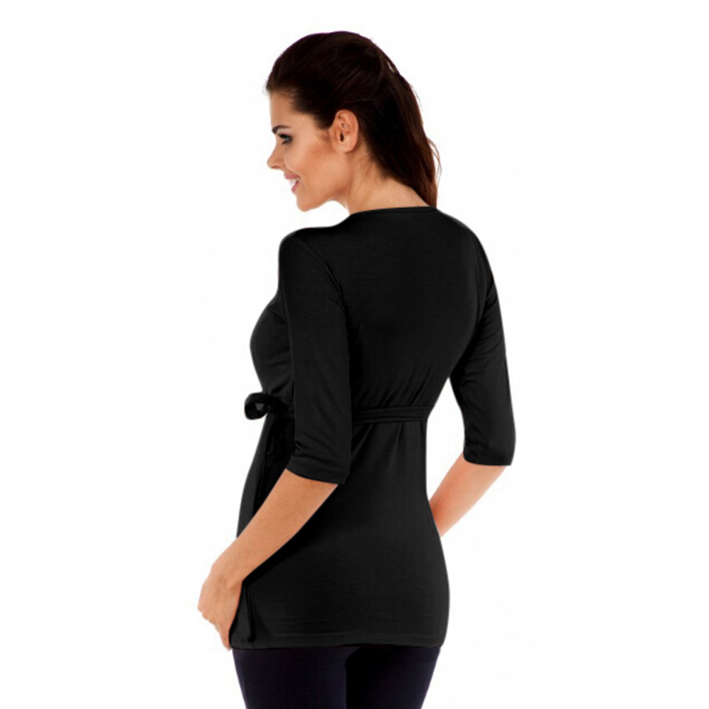 4e1385415c9e3 Maternity Clothes Women Pregnant Solid Top Nursing Baby for Pregnant  Maternity Middle Sleeves Blouse Clothes for Pregnant Women-in Tees from  Mother & Kids ...
