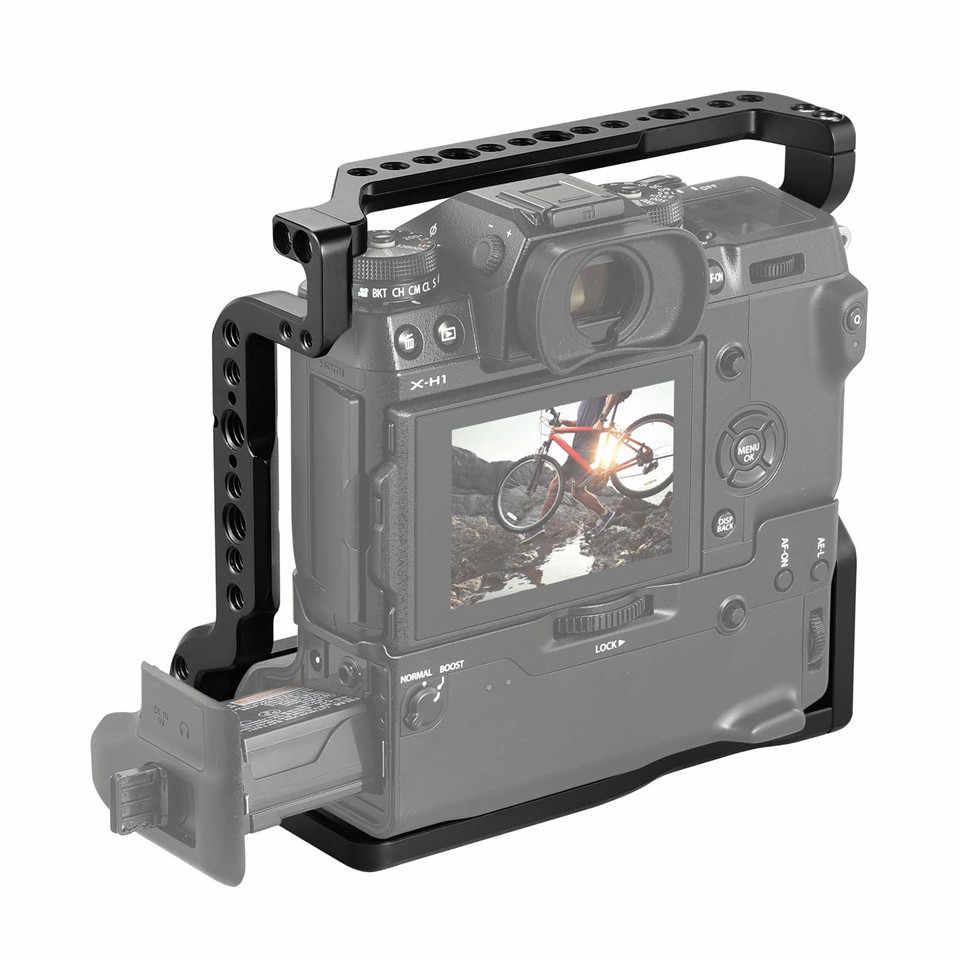 "SmallRig قفص ل فوجي فيلم X-H1 VPB-XH1 كاميرا مع قبضة بطارية/المدمج في الناتو القضبان/المعري 3/8 ""تحديد نقاط- 2124"
