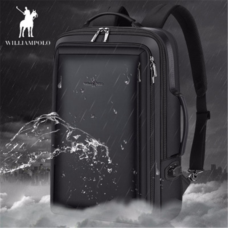 Men s backpa2019 New Anti thief Fashion Men Backpack Multifunctional Waterproof 15 6 inch Laptop Bag