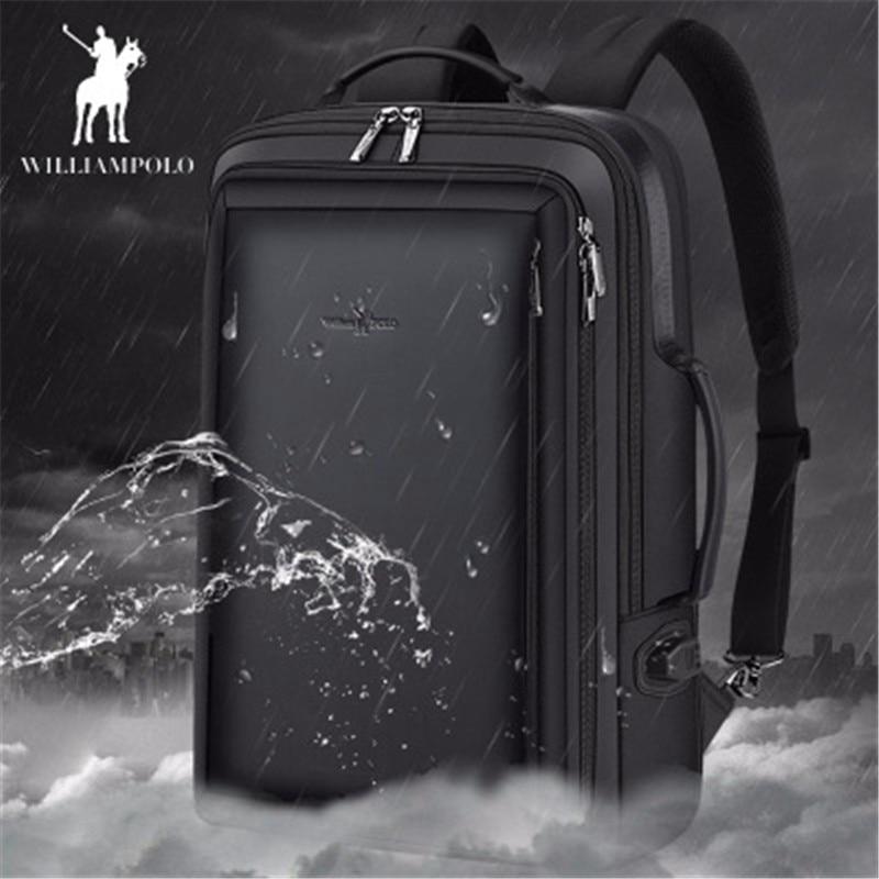 Męskie backpa2019 nowy Anti theft moda mężczyźni plecak wielofunkcyjny wodoodporna 15.6 cal torba na Laptop mężczyzna USB ładowania podróży torba w Plecaki od Bagaże i torby na  Grupa 1