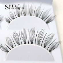 3 Pairs Professional Natural Makeup False Eyelashes Extension Lady Women Stage Party Make Up Fake Eye Lashes Free Shipping #808