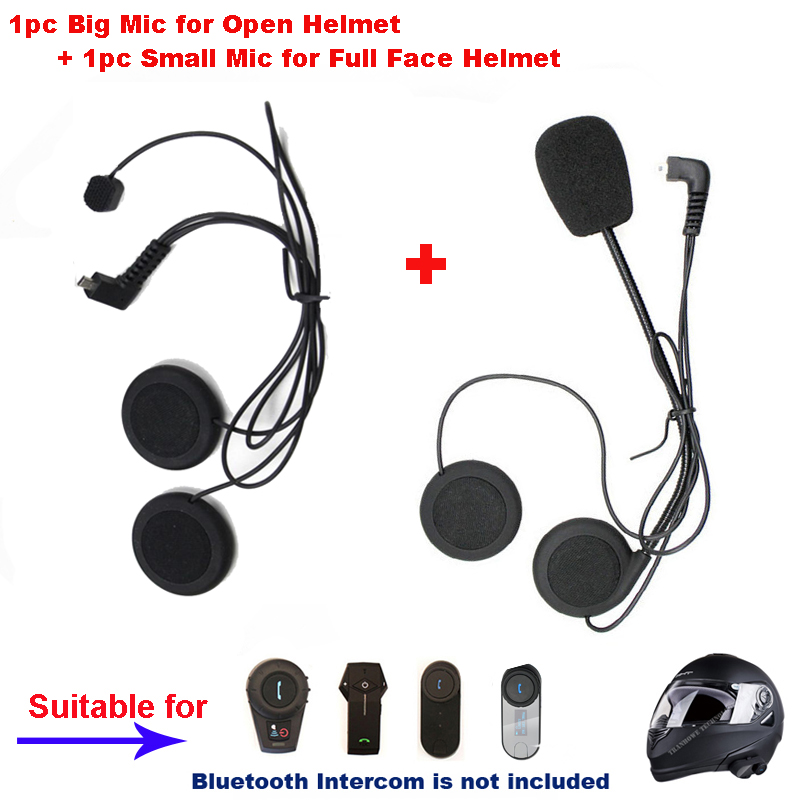 2PCS Freedconn Microphone Headphone Ear Speakers Parts Suit For T-COMVB TCOM-SC FDC-01VB COLO TCOM-02 Motorcycle Helmet Intercom