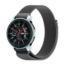Luxo Laço Magnético para Samsung Galaxy Relógio Milanese 42mm 46mm Cinta Esporte Pulseira De Metal Em Aço Inoxidável