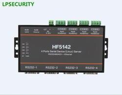 4 Порты последовательный RS232 RS485 RS422 к LAN Ethernet сервера конвертер Блок с CE FCC RoHS modbus протокол