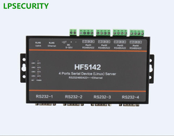 4 Ports Serial RS232 RS485 RS422 To LAN Ethernet Server Converter unit With CE FCC RoHS modbus protocol