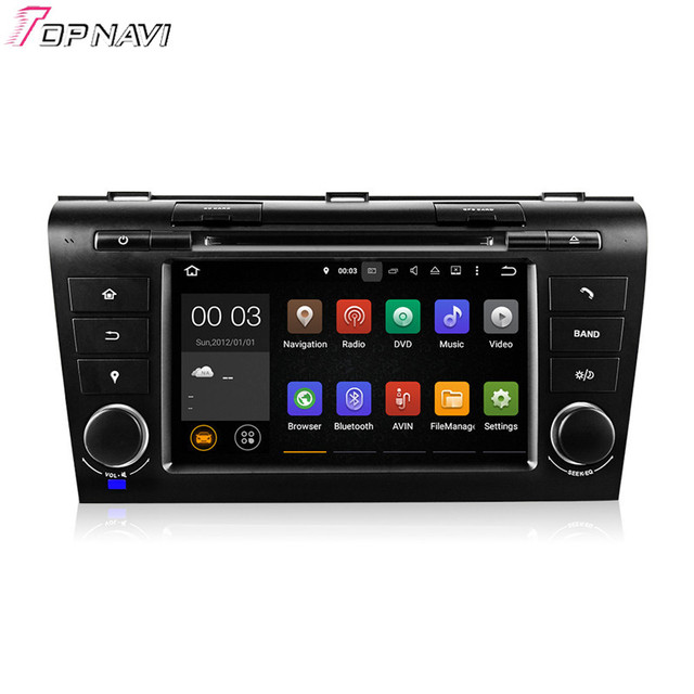 Quad Core Android 5.1 Car GPS Multimedia For Mazda 3 2004 2005 2006 2007 2008 2009 With DVD Radio Map Wifi BT Free Shipping