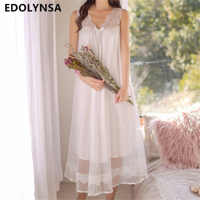 Cute Princess Style Sleepdress Light Blue Ruffle Frill Strap Bow Home Dress Summer Cotton Sleepwear Laced Organza Nightgown T131
