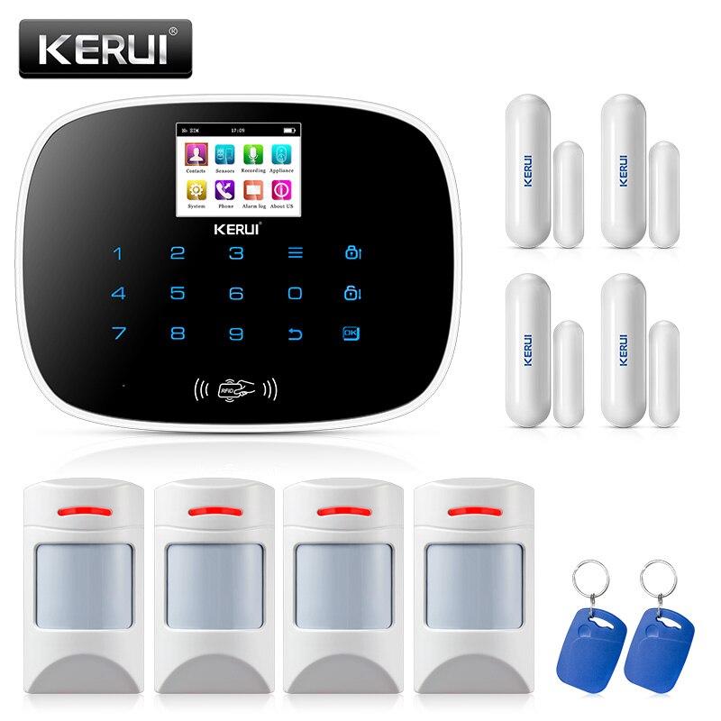 KERUI Android IOS APP 433MHz TFT color Screen UI menu GSM Alarm Home Security Alarm anti