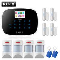 KERUI Android IOS APP 433MHz TFT color Screen UI menu GSM Alarm Home Security Alarm anti-pet motion detector
