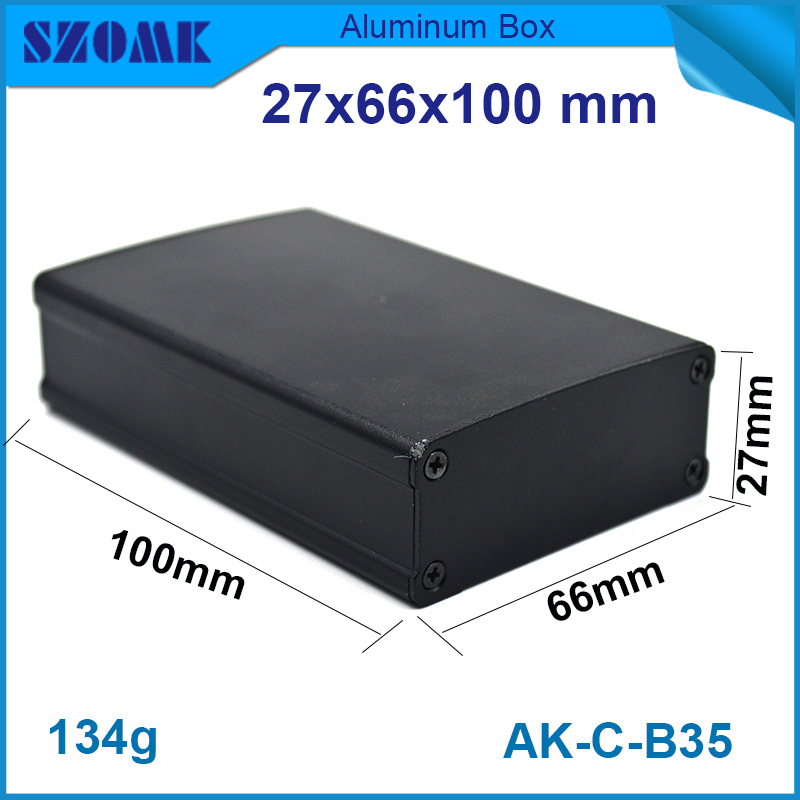 1 Piece free shipping aluminium extrusion enclosure for electronics 27(H)x66(W)x100(L) mm cctv camera enclosure 1 piece free shipping szomk electronics case aluminum extrusion enclosure 28 h x122w x100l mm