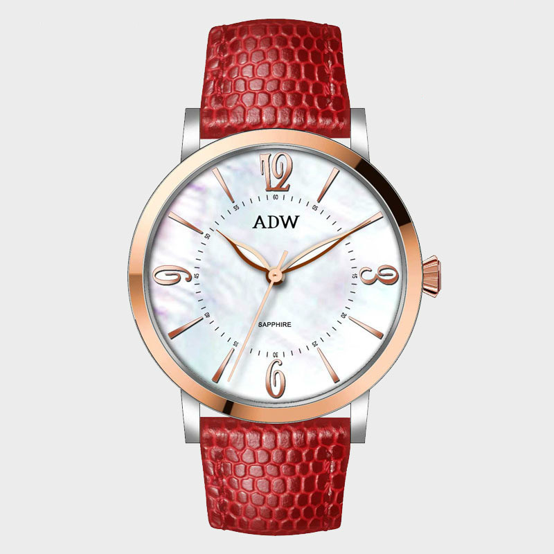 Ciel ceinture montre-bracelet femme fonds concis vent femme Surface exquis Quartz montre femme sexe dernière mode Surface Adw AD2064