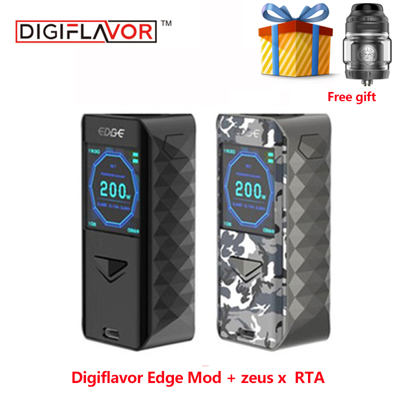 Free gift Electronic Cigarette Digiflavor Edge Mod advanced AS chipset fast wireless charging advanced TC mod