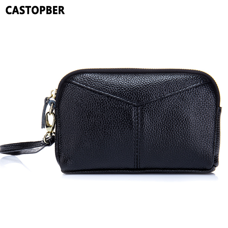 Womens Wallet Day Clutch Bag Small Coin Purse Mini Bag Split Leather Small Bags Handbags Women Famous Brands High Quality Female image
