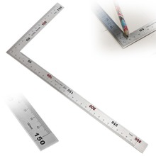 Double-sided Scale Right Angle Ruler Gauges Premium Stainless Steel 90 Degree Angle Metric Rulers woodworking Measuring Tools