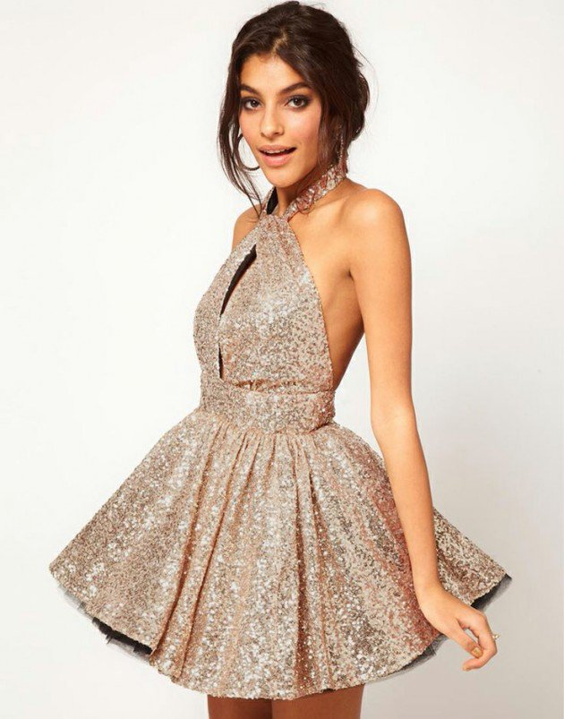 Online Buy Wholesale gold sequin cocktail dress from China gold ...