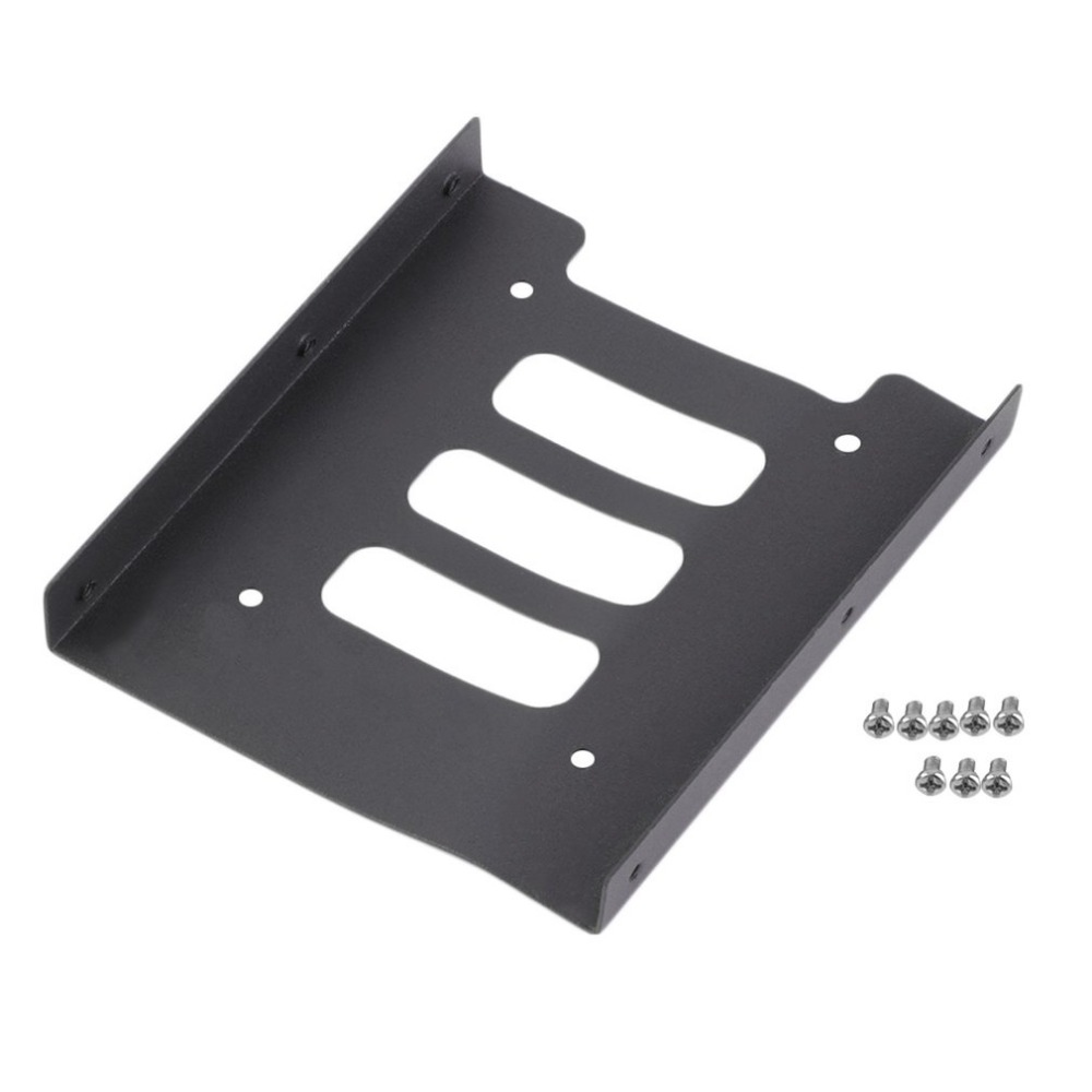 Professional 2.5 to 3.5 SSD to HDD Metal Adapter Mounting Bracket Hard Drive Holder Tool ...