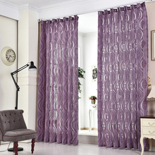 Envío libre Cortinas de casa listo cortinas cortina panel de la ventana persianas baratos corto cortina de jacquard tela Moderna habitación