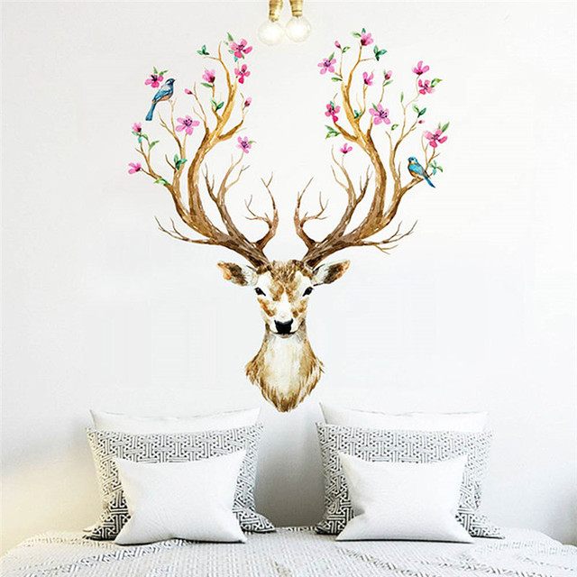 DIY Removable Zoo Happy Birthday Party Deer Vinyl Wall Sticker for ...