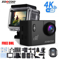 5pcs Free DHL Action Camera SOOCOO C30 C30R Remote Ultra FHD 4K WiFi 1080P 2.0 LCD 170D Sport Go Waterproof Pro camera deportiva