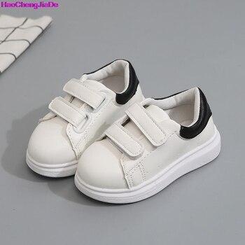 40091738 Haochenjiade otoño niño y niñas zapatos blancos moda roja deportes Casual para  niños pequeños transpirables zapatillas de deporte de tamaño plano 21 -30