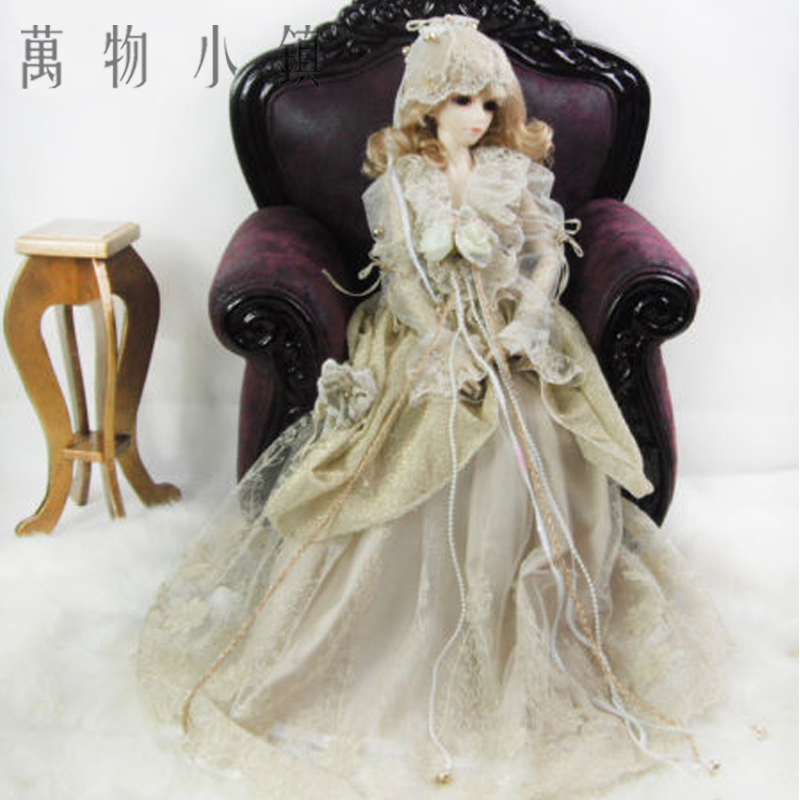 Accept custom NEW Retro Striation Fair Maiden Coffee Color Suit 1/3 1/4 Big girl SD MSD BJD Doll Clothes