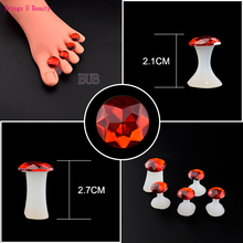 8Pcs/set Silicone Toe Separators Foot Toe Spacers for Home Salon Flower Shaped Pedicure DIY Nail Art Finger Spacer Manicure Nail
